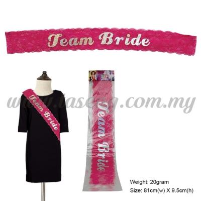 Team Bride Lace Sash (P-AC-SA9P2)