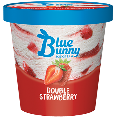 Blue Bunny Pint Double Strawberry