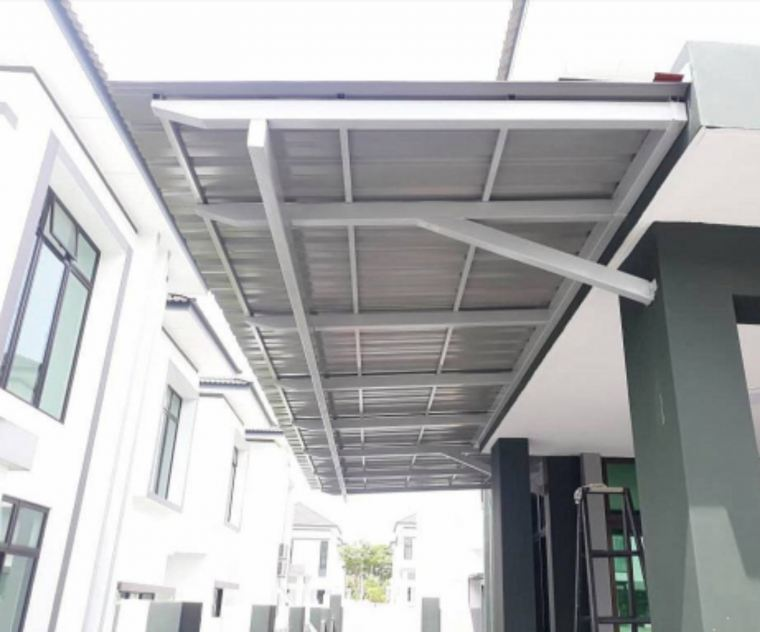 To supply & installation metal roofing awning