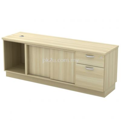 SC-YOSP-1626 - Open Shelf + Sliding Door + Fixed Pedestal 1D1F