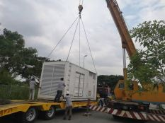 Supply rental genset 1000kva & 500kva for construction work at Pahang