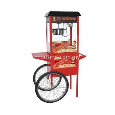 (A123) Pop Corn Machine With Trolley