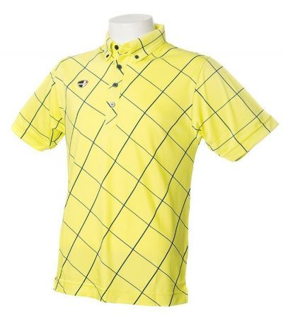 Crest Link Yellow Striped Dri Fit Material- 100% Microfibre