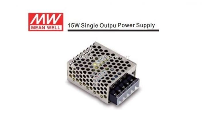 MEAN WELL RS-15 SINGLE OUTPUT 15W ROBOT & AUTOMATION POWER SUPPLY