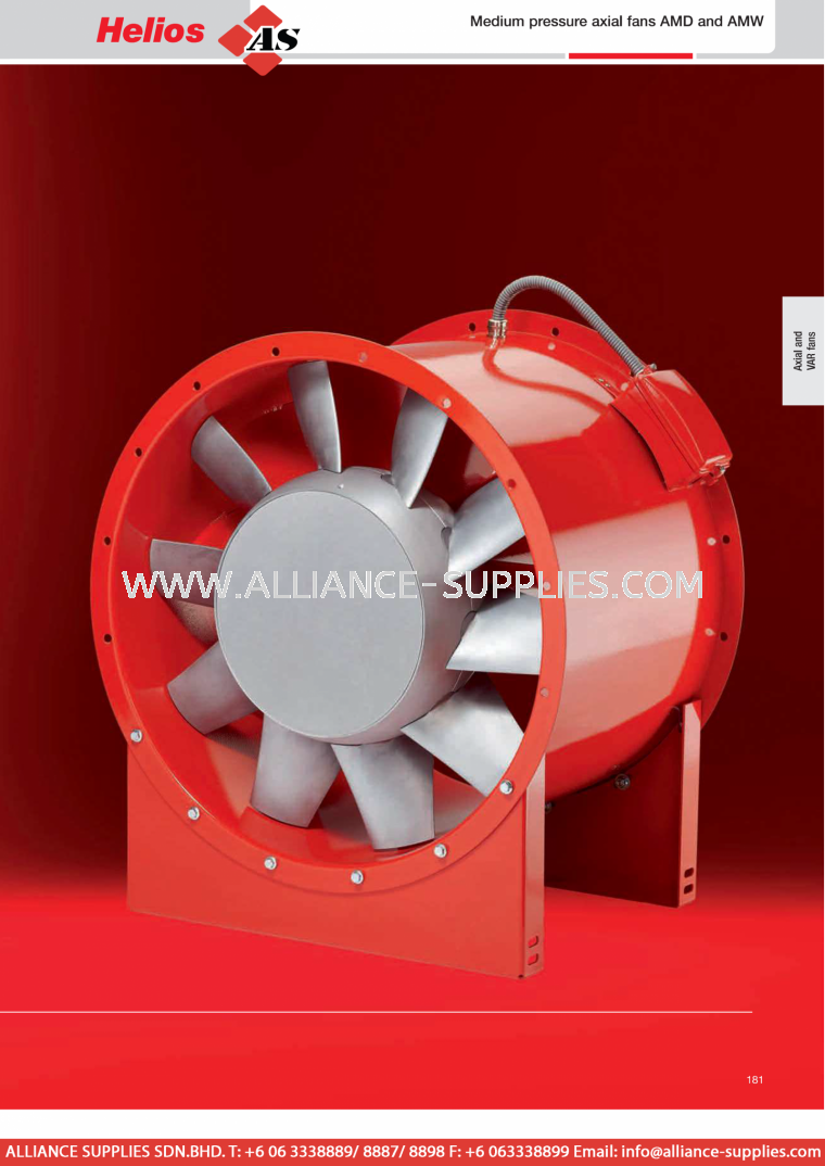 HELIOS High-performance & Medium Pressure Axial Fans - Medium-pressure axial fans AMD and AMW 29.1.4 Low & Medium Pressure Axial Fans / RADAX VAR High Pressure Fans 29.1 Helios Fans / Air Technology 29.VENTILATION