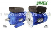 SIMEX AC INDUCTION MOTOR SIMEX SINGLE PHASE ELECTRIC MOTOR SIMEX