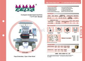 Prize down for all new embroidery machines