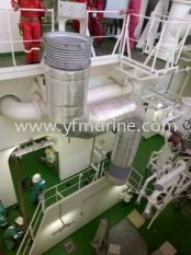 Installing Exhaust Line on VLCC Front Discovery