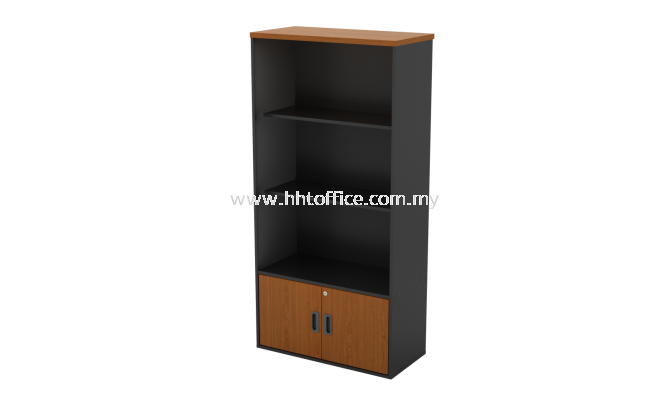 GB741-Semi Door Medium Office Cabinet