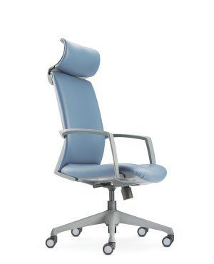 FITS HIGH BACK CHAIR-GREY-FABRIC