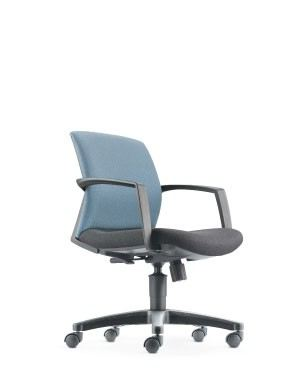 FITS LOW BACK CHAIR-BLACK-FABRIC