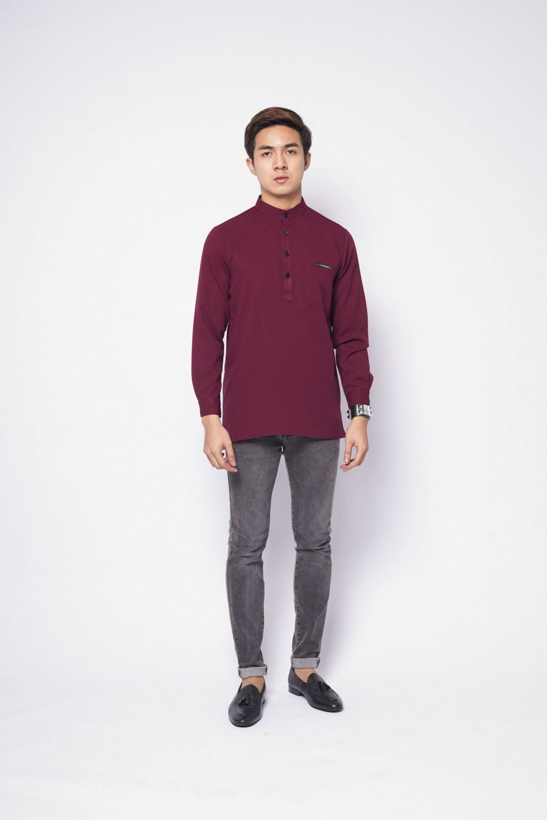 REMICO BUTTON - BURGUNDY MAROON
