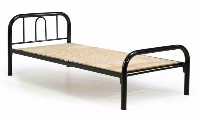 Metal Bed With Solid Plywood