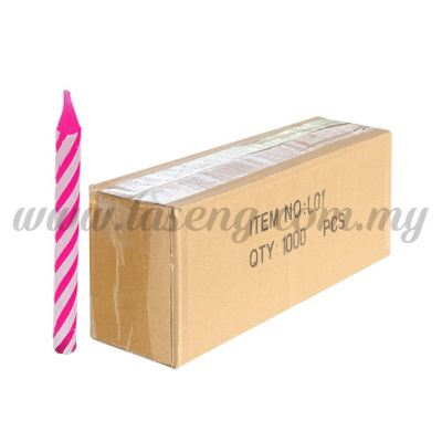 Small Candle -Pink 1box *1000pcs (CDL-L01)