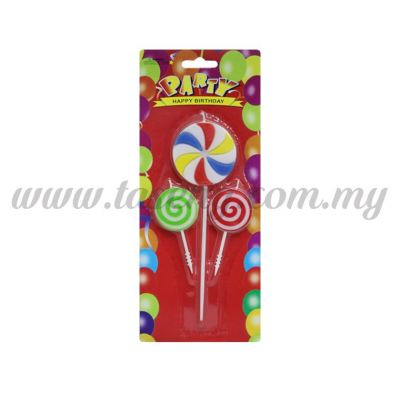 Lollipop Candle 1pack *3pcs (CDL-LL)