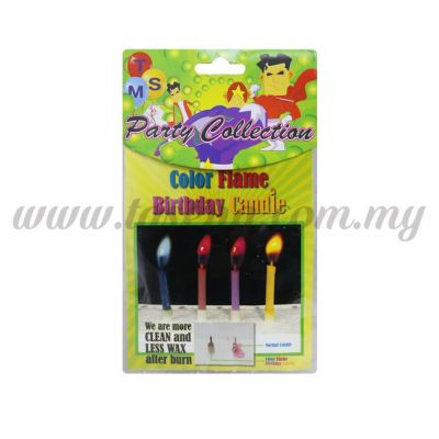 Color Flame Birthday Candle 1pack *8pcs (CDL-CF)