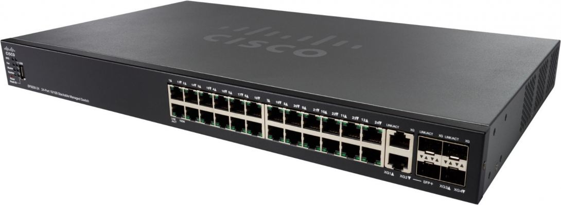Cisco 24-port 10/100 PoE Stackable Switch.SF550X-24MP/SF550X-24MP-K9-UK