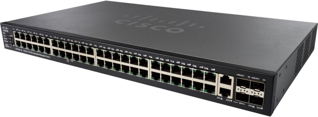 Cisco 48-port 10/100 PoE Stackable Switch.SF550X-48P/SF550X-48P-K9-UK