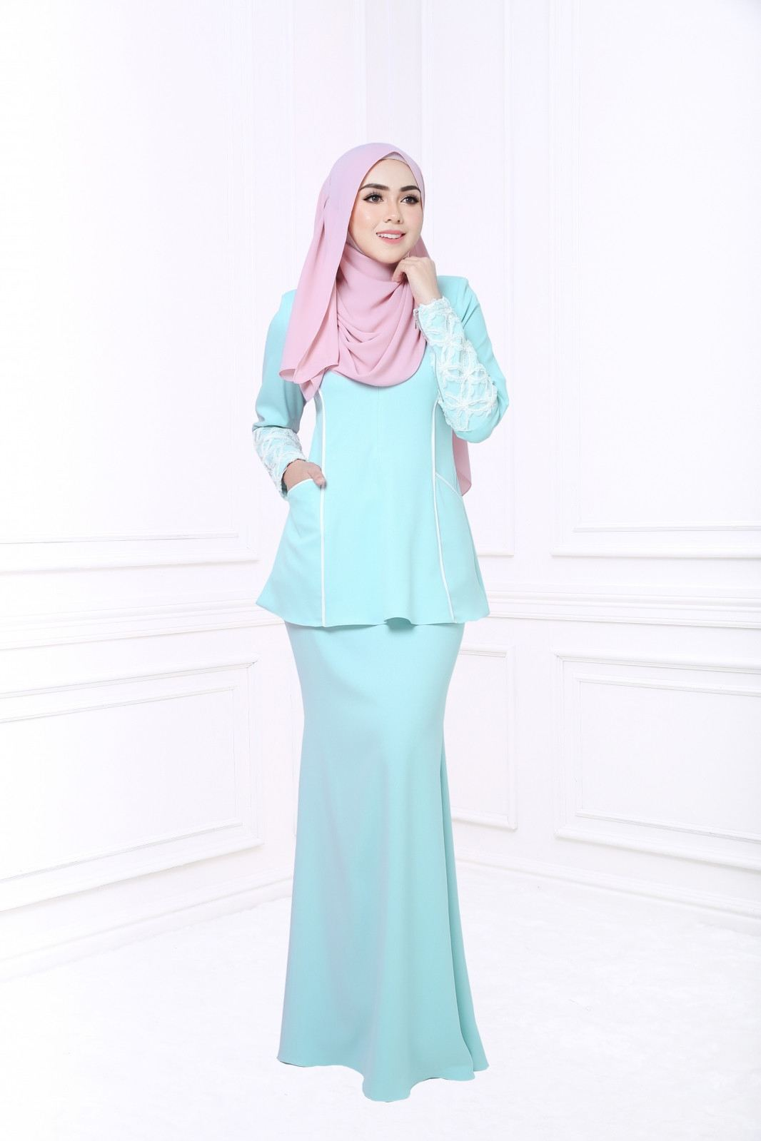 MUSELACE KURUNG - TIFFANY BLUE