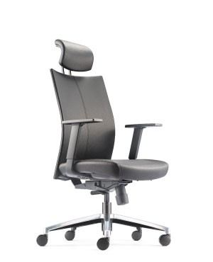 MESH 2 EXECUTIVE HIGH BACK CHAIR-PU LEATHER
