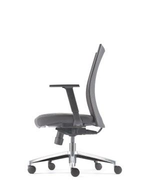 MESH 2 EXECUTIVE MEDIUM BACK CHAIR-PU LEATHER