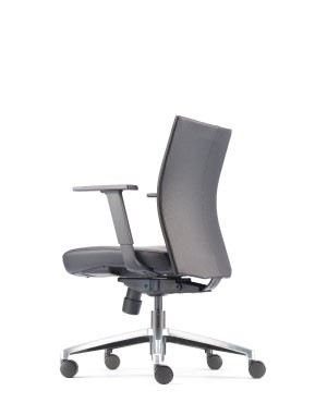 MESH 2 EXECUTIVE LOW BACK CHAIR-PU LEATHER