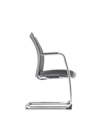 MESH 2 EXECUTIVE VISITOR CHAIR WITH ARMREST-PU LEATHER