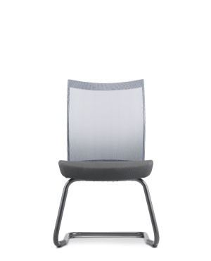 MESH 2 VISITOR CHAIR W/OARMREST-FABRIC