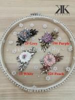 Iron On Flower, Iron On Beads, 3D Flower, Chunky Beads, Code 09#