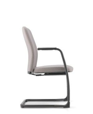 ARONA VISITOR CHAIR WITH ARMREST-FABRIC