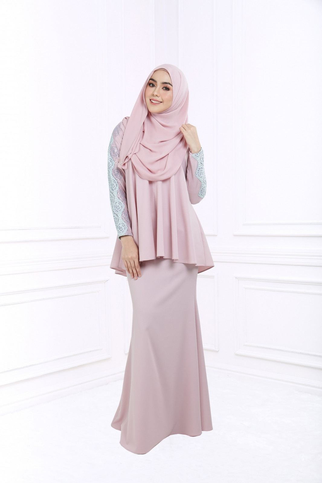 ADELE DOLL KURUNG - DUSTY PINK
