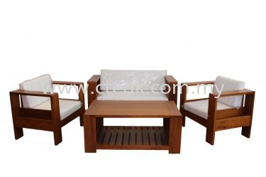 Square Sofa Set with Magazine Storage
