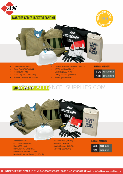 CPA Arc Flash Protection - Kits