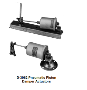 D-3031 Pneumatic Piston Damper Actuator