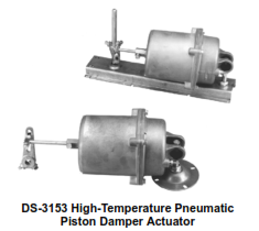 DS-3062 High-Temperature Pneumatic Piston Damper Actuator