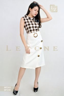 MF239 LEANN BUTTON WRAP SKIRT【30% 40% 50%】