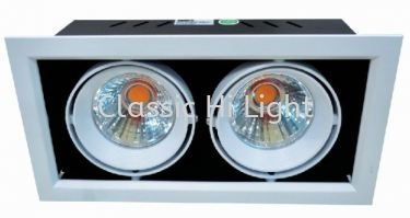 Yetplus Rectangular X80-2  2x12W LED Eyeball