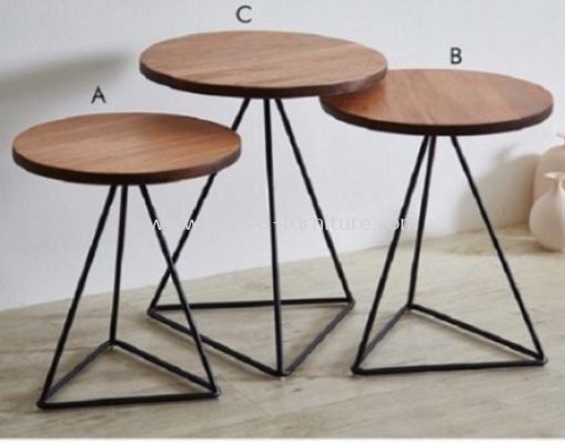Seoul Nesting Table With Triangle Base