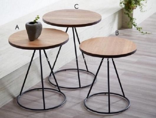 Seoul Nesting Table With Round Base