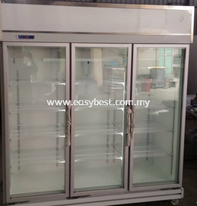 3 DOOR DISPLAY CHILLER - SILVER