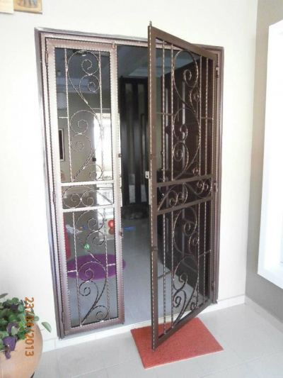Wrought Iron Door Grille Penang