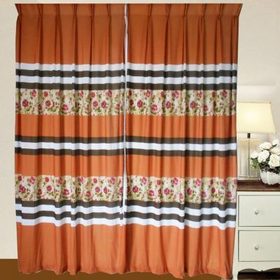 1 SET SPK PRINTED CURTAIN JMN023 GOLD
