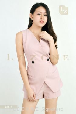 28518 WRAP V-NECK ROMPER【BUY 2 FREE 3】