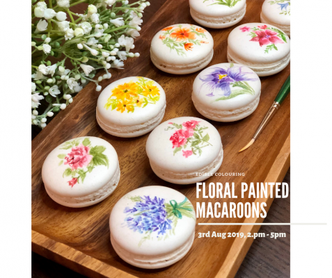Floral Painted Macaroons