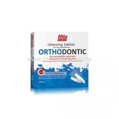 Fittydent Orthodontic Cleansing Tablets 32pcs