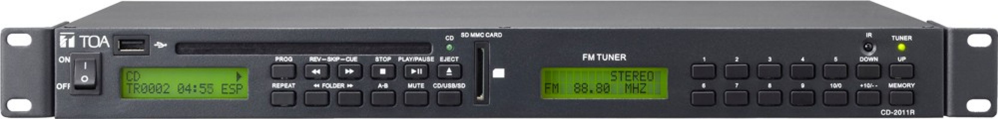 TOA Compact Disc Player With FM Radio, USB & SD CARD.CD-2011R