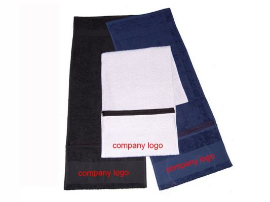 Microfibre Fitness Towel with Zipped Pocket