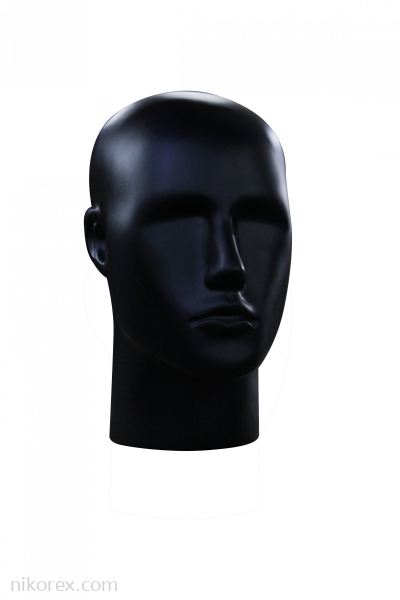 13690 - PLASTIC MALE HEAD (BLACK)