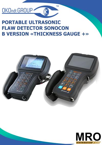 Portable Ultrasonic Flaw Detector Sonocon B Version «Thickness Gauge +»