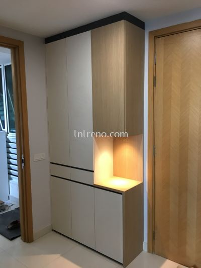 Shoe cabinet with laminate ABS
